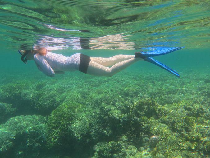So nah über den Korallen